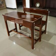 Hasil gambar untuk kursi meja kayu mahoni sekolah